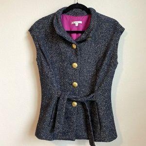 CAbi Vest Wool Blend Tweed Jacket Style #116